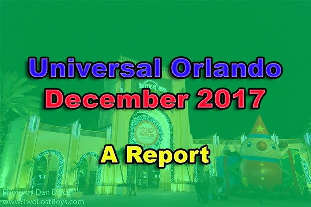 A visit to Universal Orlando, December 2017 - A Photo Report