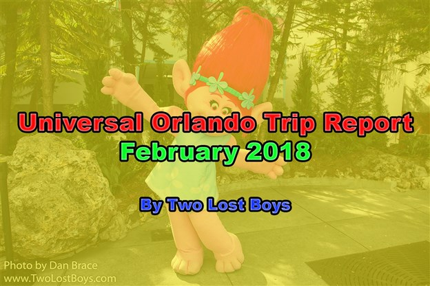 A visit to Universal Orlando, February 2018 - A Trip Report